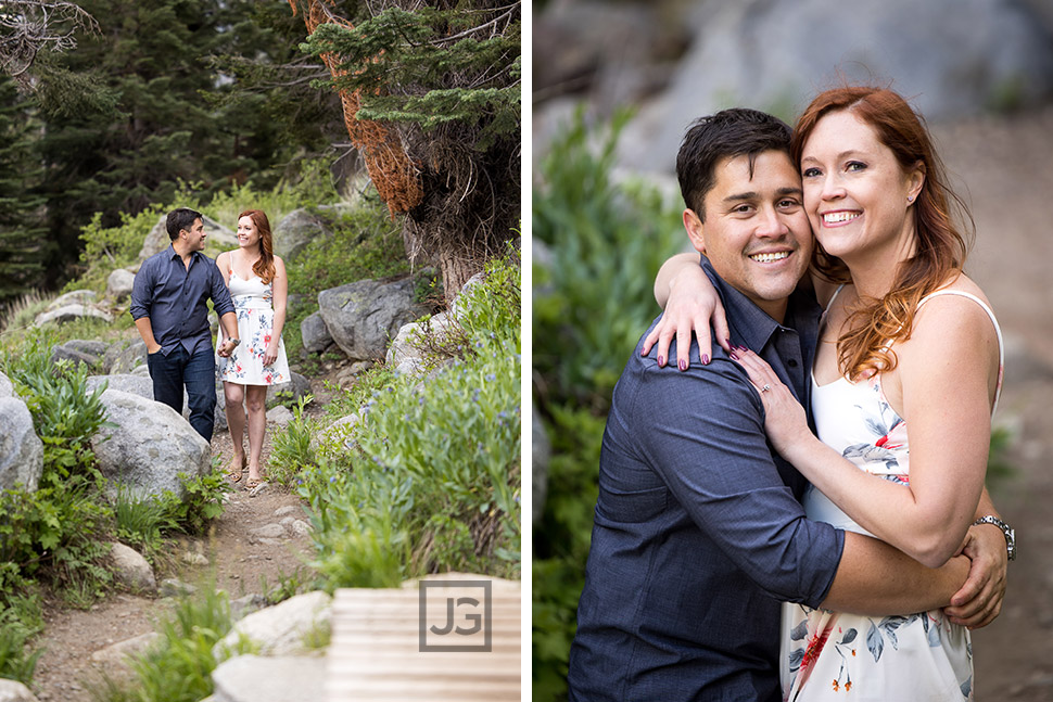Mountain Trail Engagement Photography