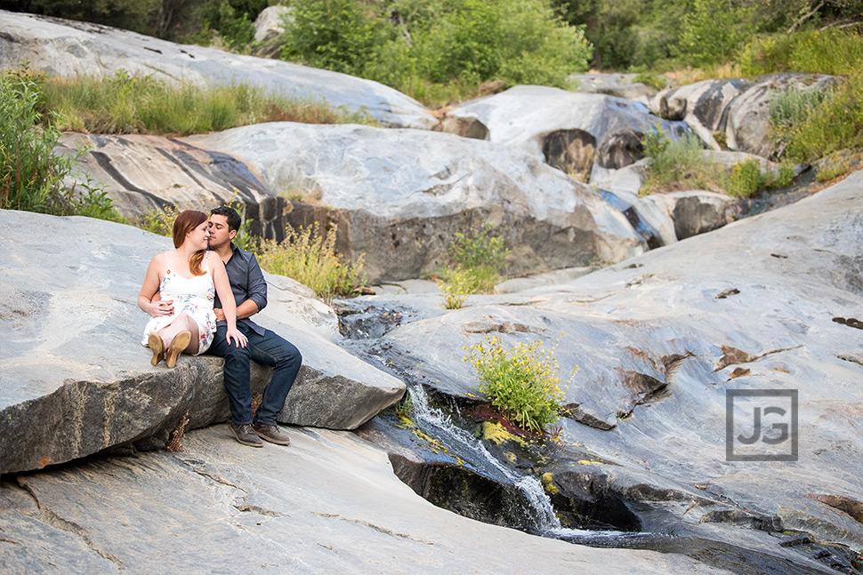Waterslide Rocks Engagement Photos