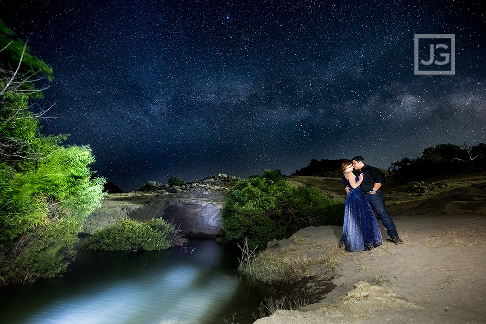 Engagement Photos Milky Way and Stars