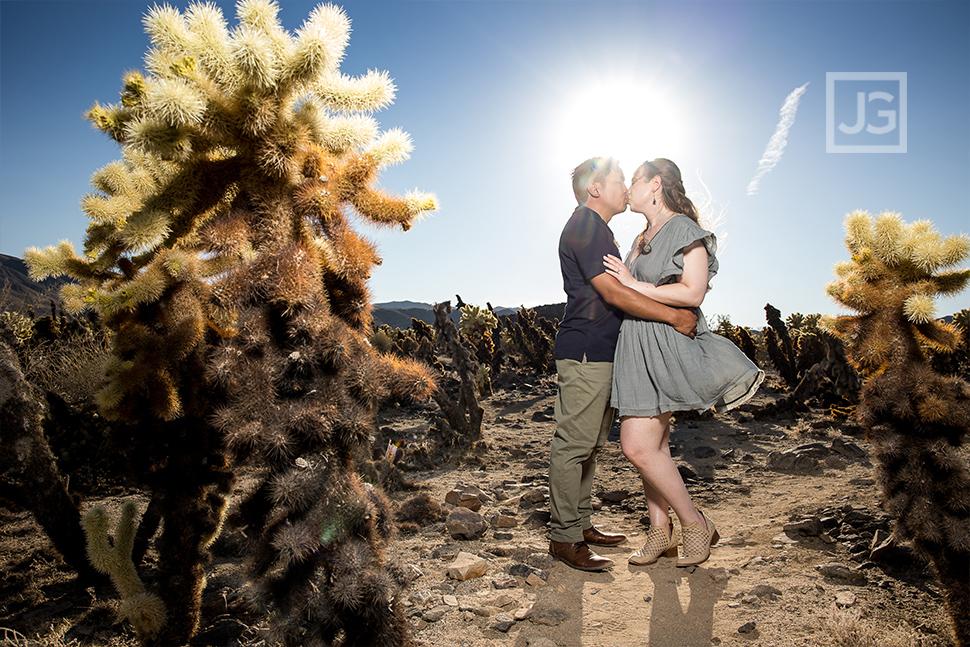 Cholla Cactus Engagement Photography