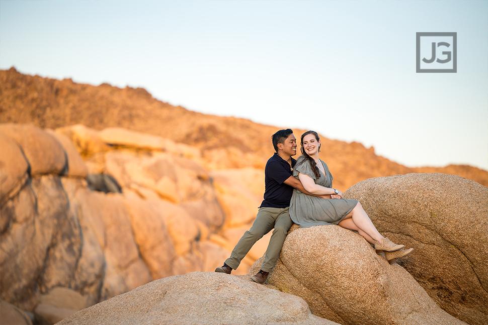 Joshua Tree Rocks During Sunset