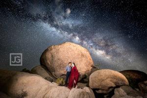 Astrophotography Joshua Tree Engagement Photography!!