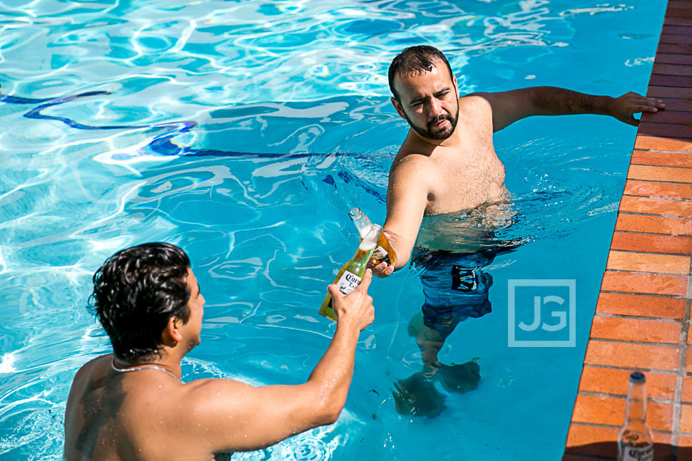 A swim and a beer before your wedding