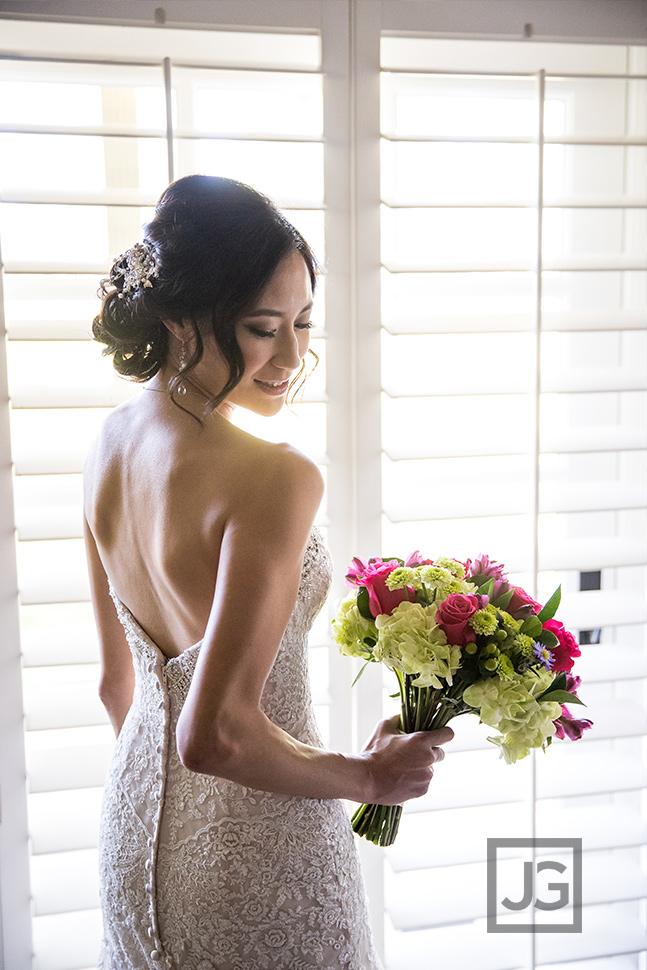 Bride getting ready, wedding preparation
