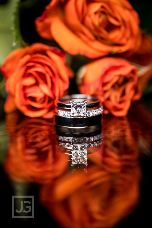 Princess cut wedding ring photo