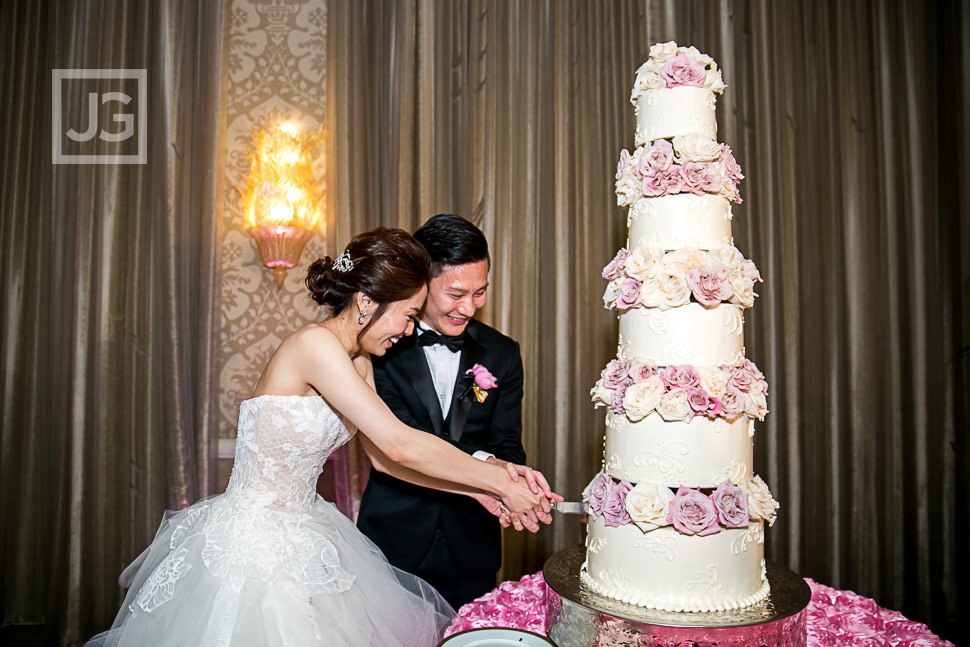 Four Seasons Wedding Cake Cutting