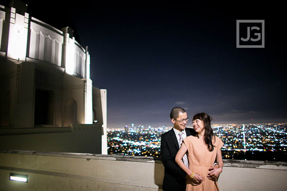 Griffith Observatory Engagement Photography