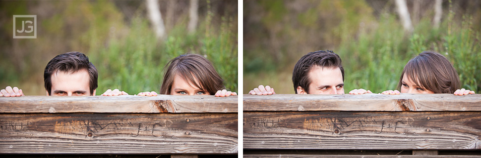 Pasadena Engagement Photos in a Field
