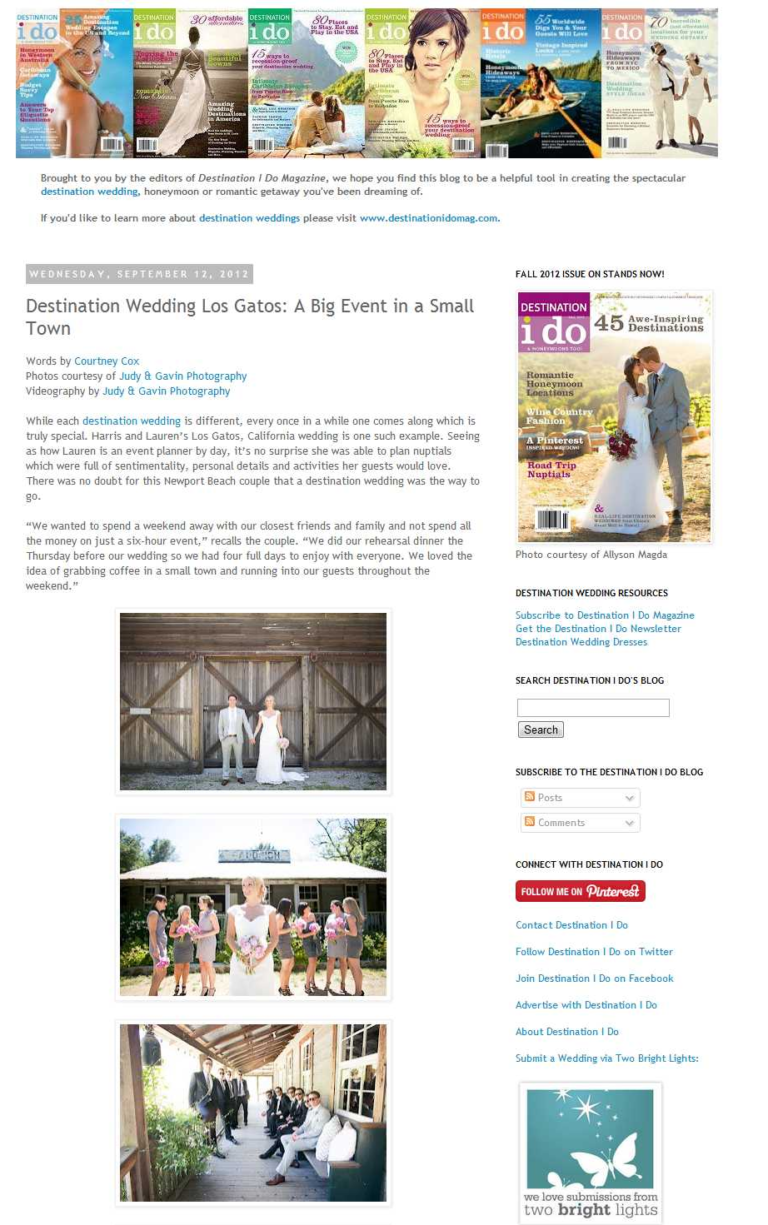 Judy & Gavin Photography| Featured on Destination i do