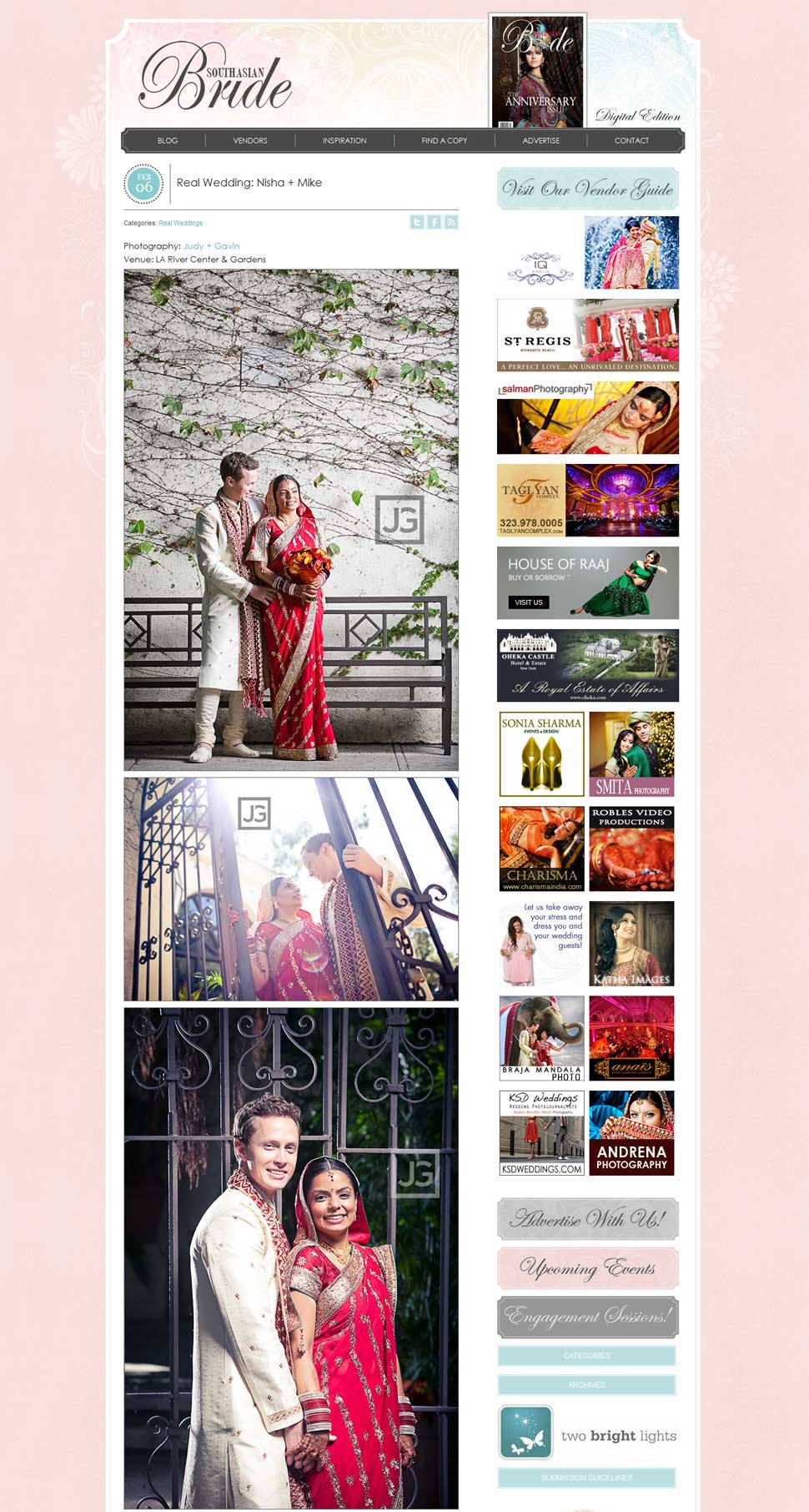 Indian Wedding Photos | Featured on South Asia Bride Magazine