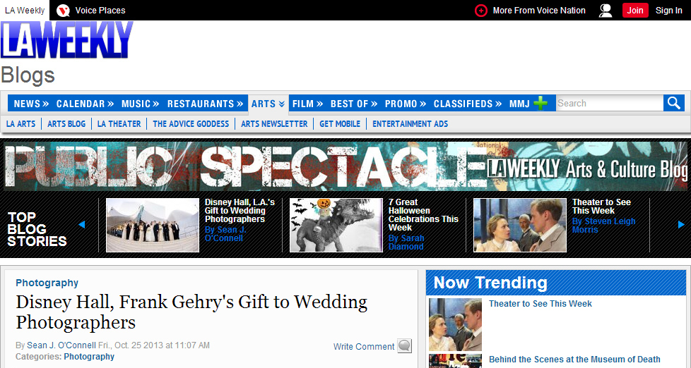 Judy & Gavin Photography Interviewed and Featured on LA Weekly Blog
