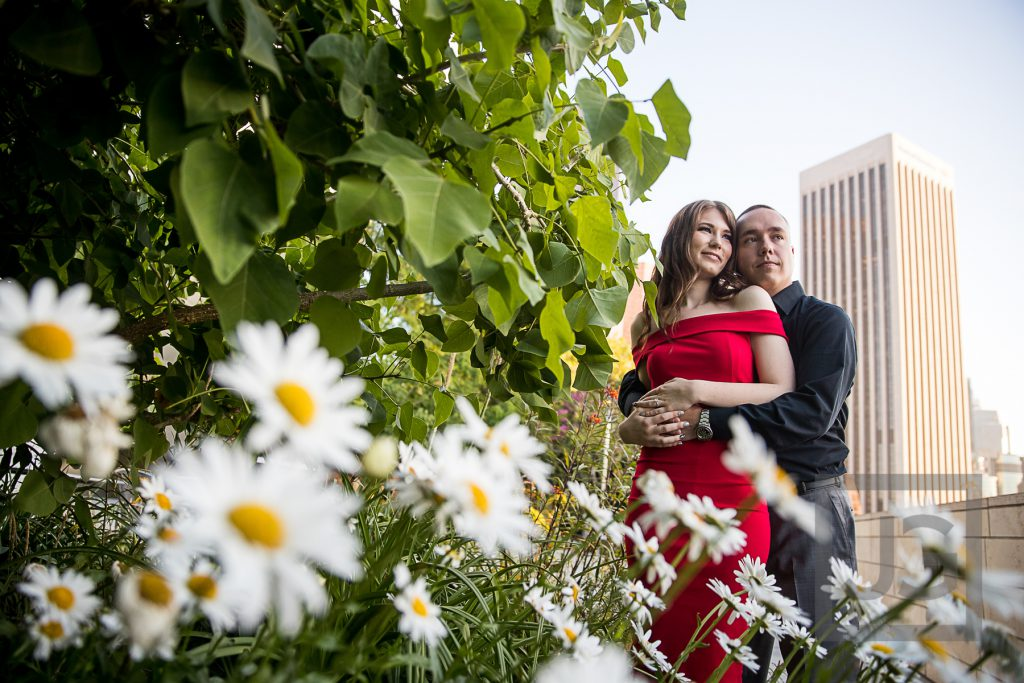 Walt Disney Concert Hall Engagement Photography Garden