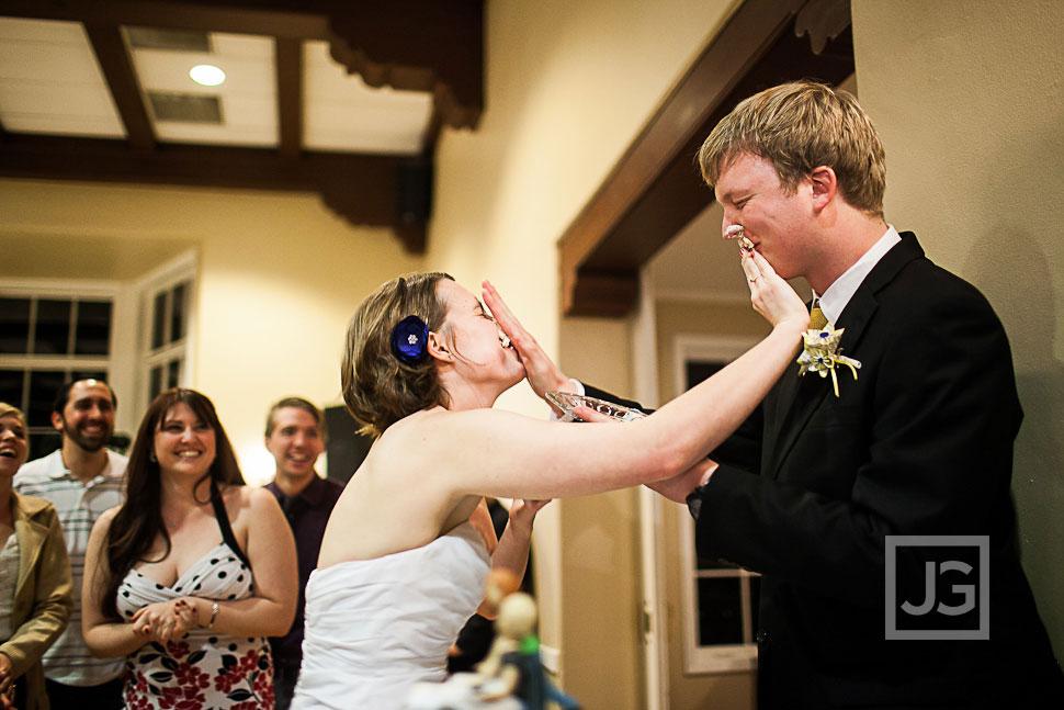 Altadena Country Club Wedding Cake Cutting