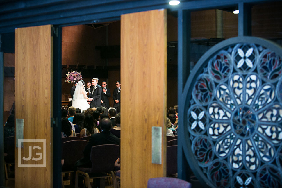 Neighborhood Church Wedding Ceremony in Pasadena