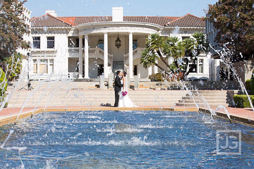 Pasadena Wedding Photos Water Fountain