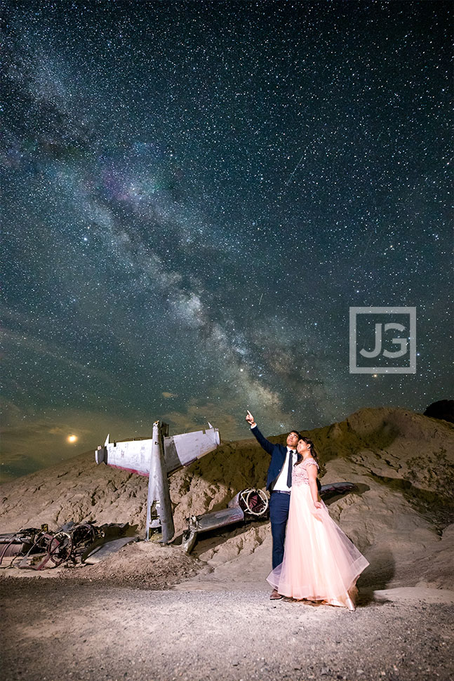 Nelson Ghost Town, Astrophotography Engagement in Nevada | Nadezh + Ryan