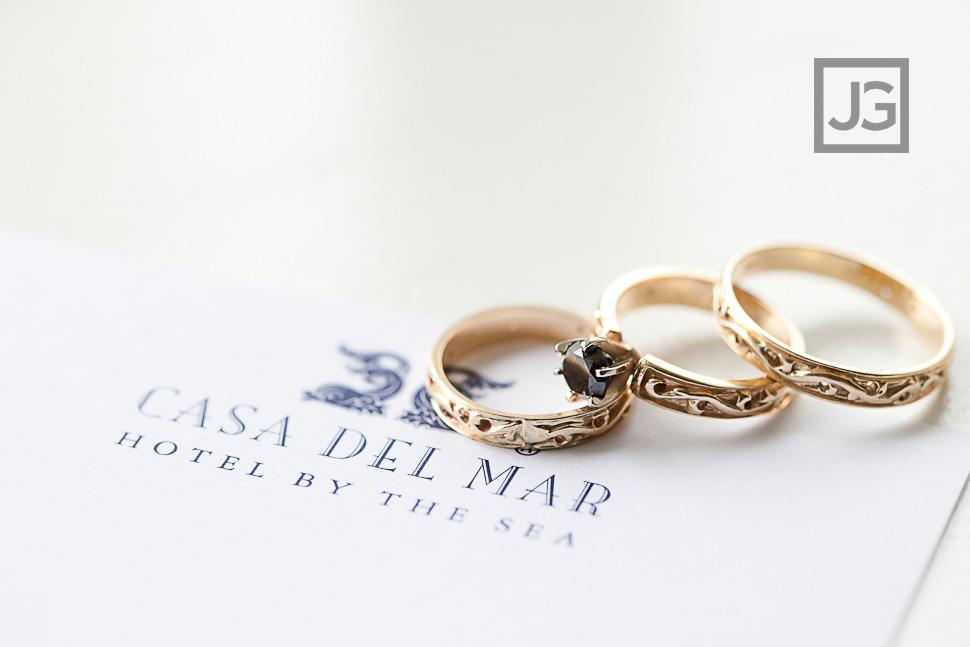 Wedding Rings Photo Casa del Mar