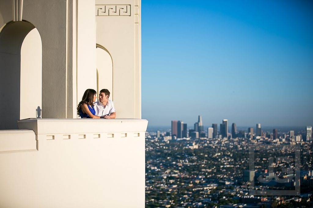 Griffith Observatory engagement photo