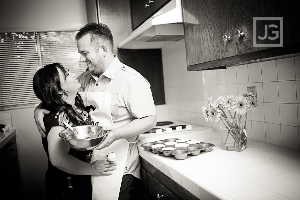Baking Cooking Engagement Photos