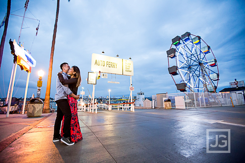 newport beach balboa island engagement photography linh danin
