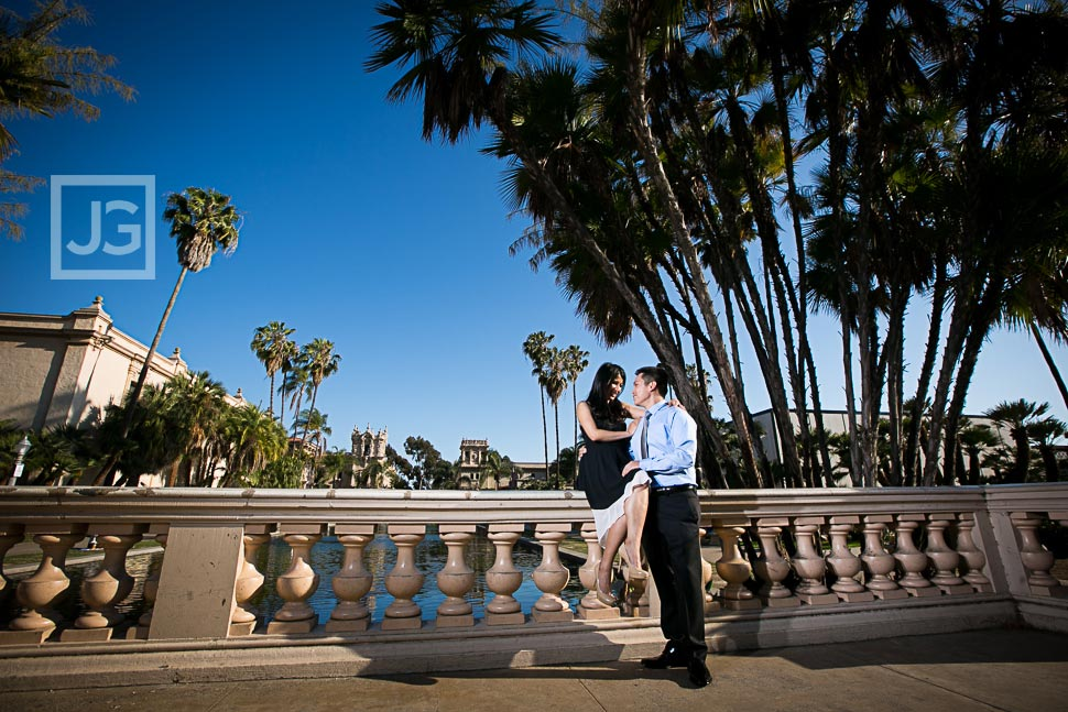 Engagement Photo in Balboa Park