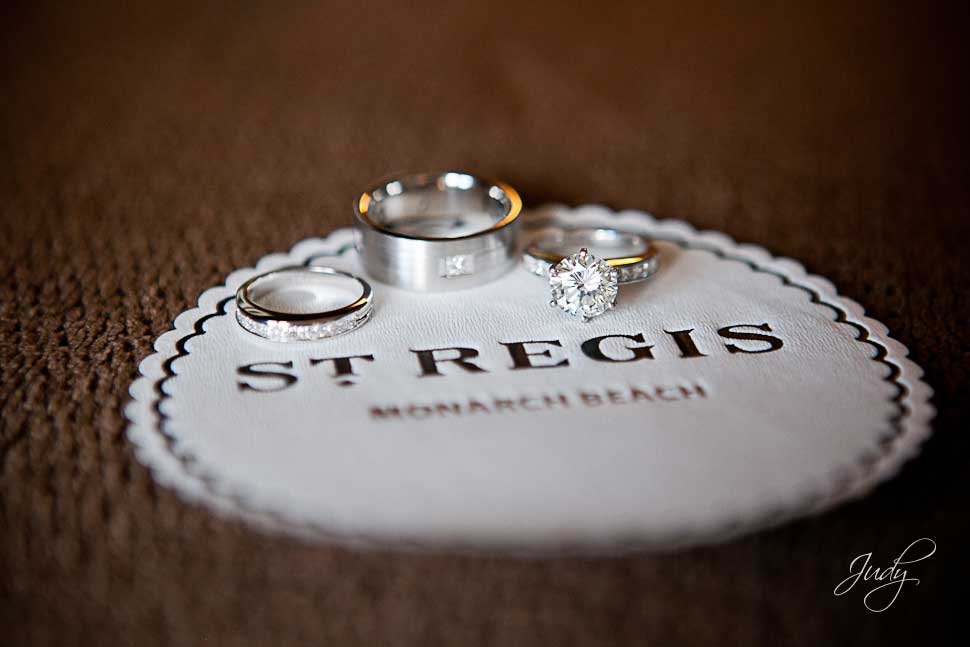 St. Regis Monarch Beach Wedding Preparation Rings