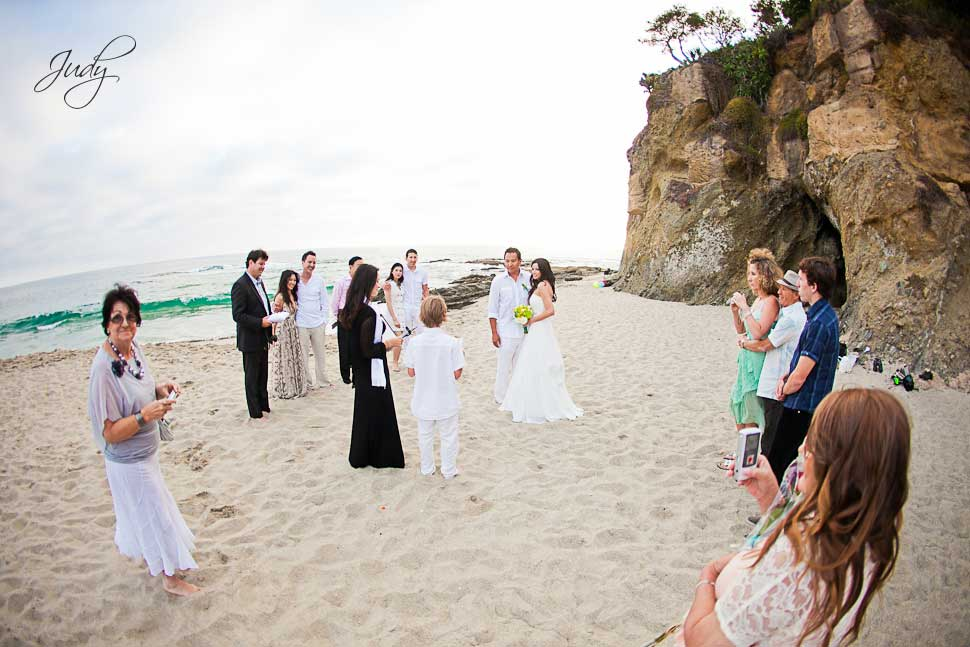 Wedding Ceremony at Victoria Beach