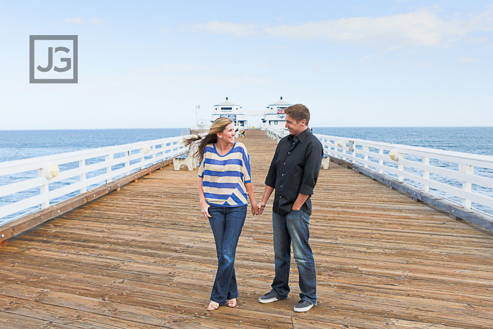 Malibu Pier engagement photography
