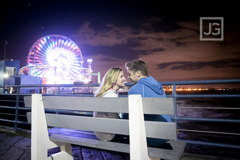 Malibu Engagement Photography, Santa Monica Pier | Meghan & Rob
