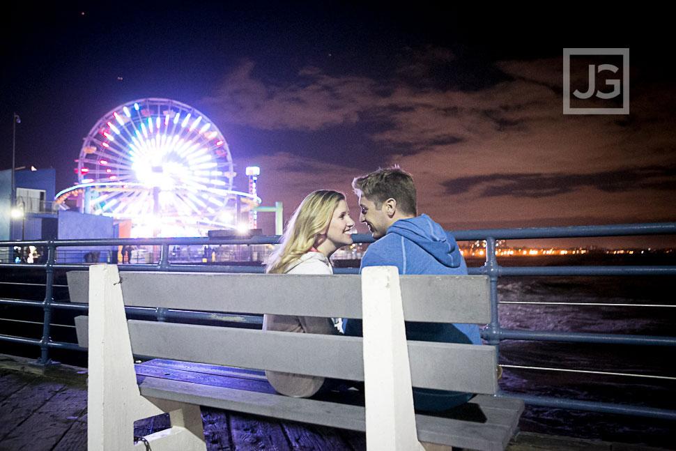 Malibu Engagement Photography, Santa Monica Pier | Meghan & Rob