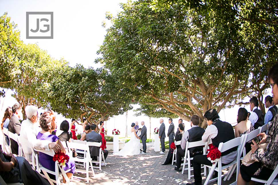 Wedding Ceremony at The Plaza at Cabrillo Marina