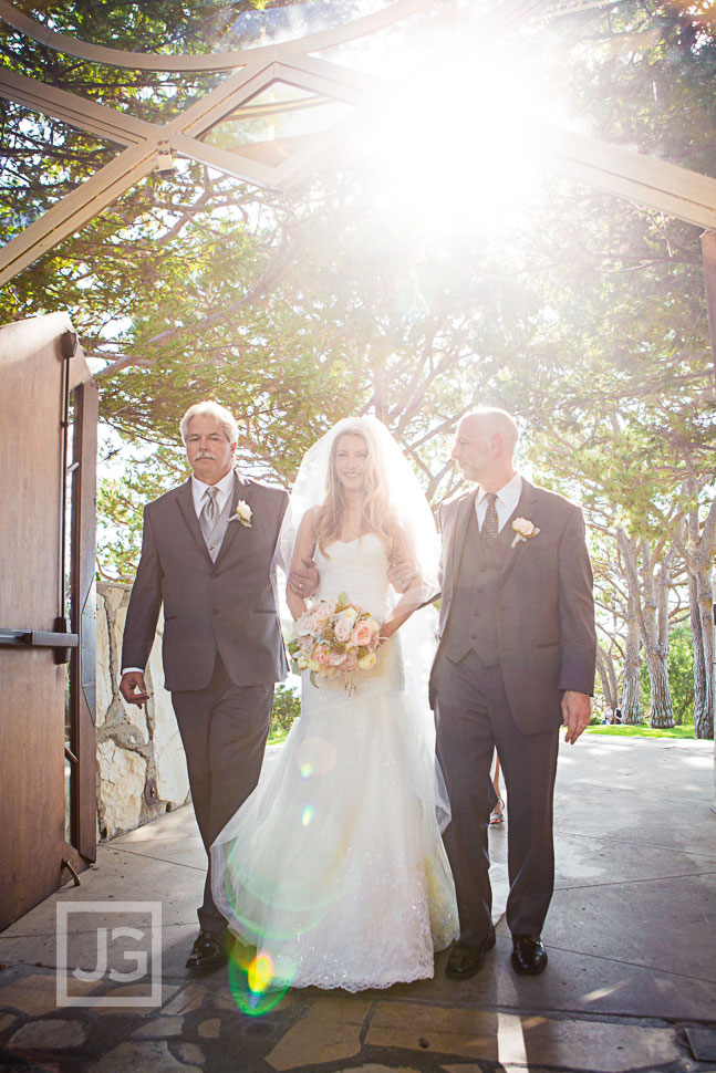 Wayfarers Chapel Wedding Ceremony