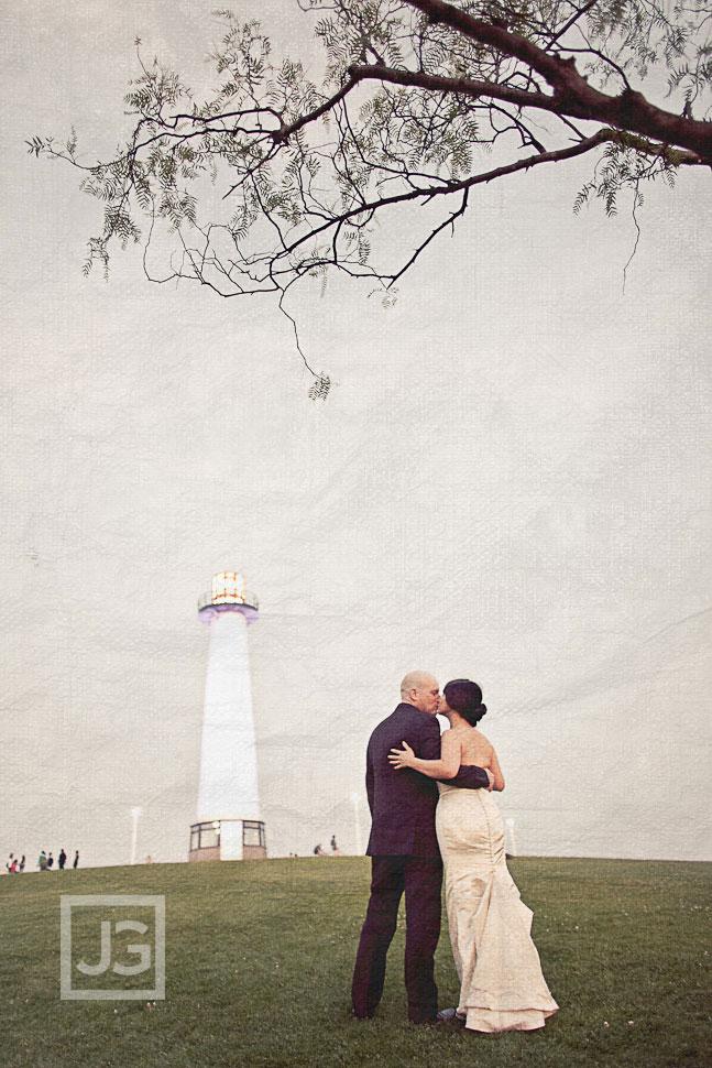 Long Beach Wedding Photography Shoreline Village Lighthouse