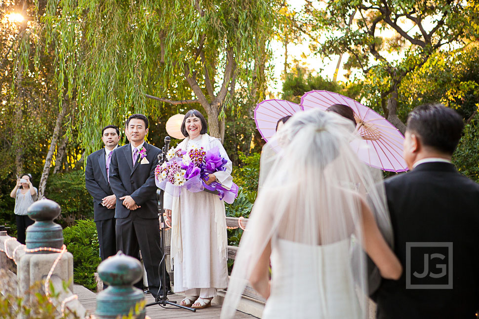 Wedding Ceremony at the CSULB Japanese Gardens