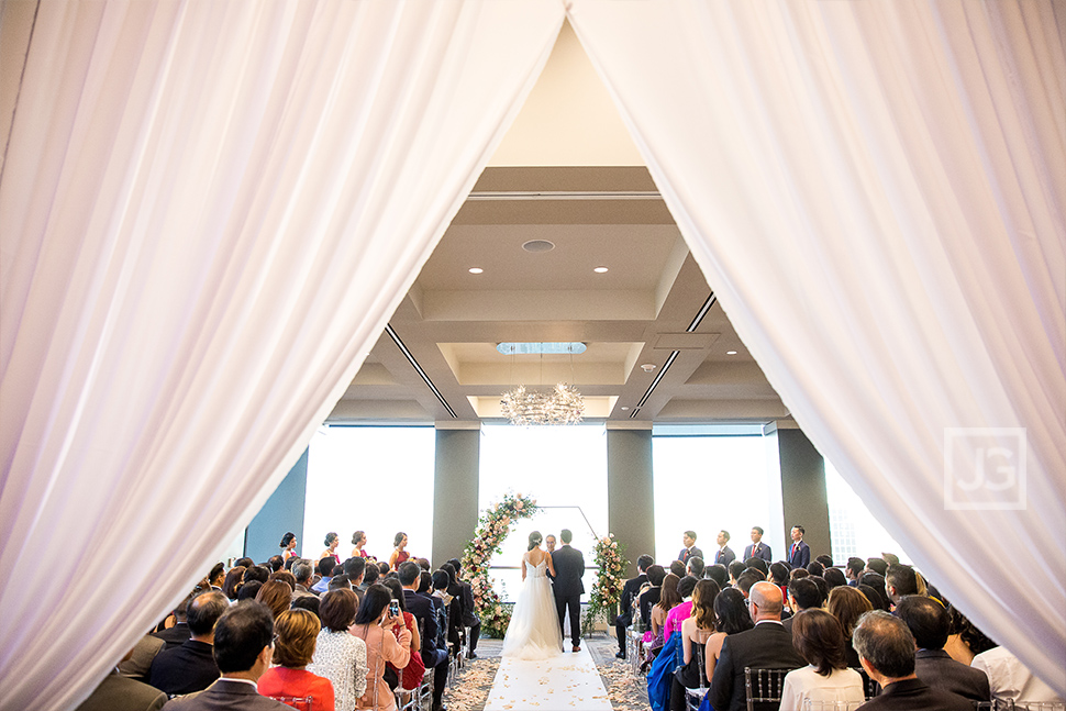 City Club wedding ceremony