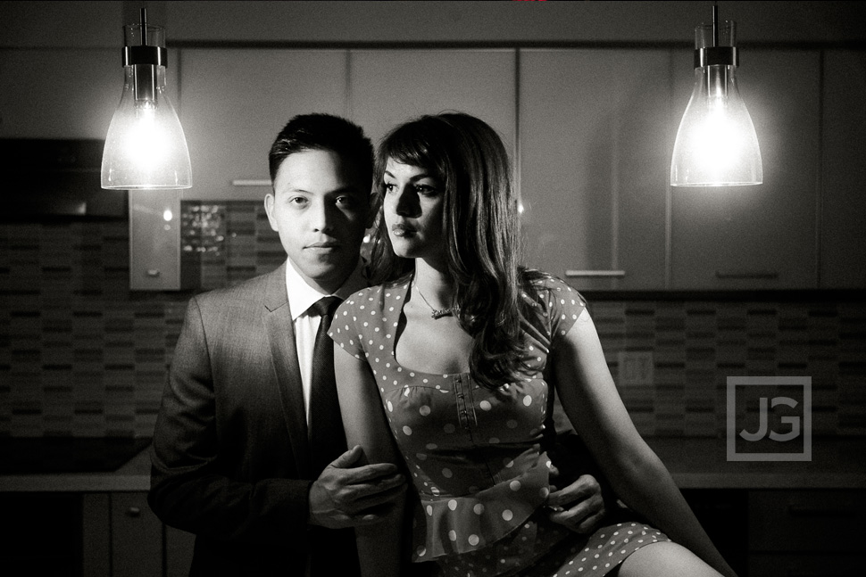 Noir Engagement Photography