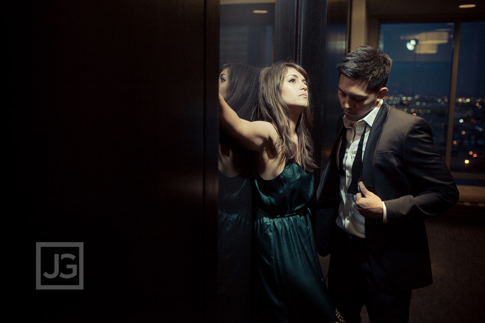 Elevator Engagement Photos Los Angeles