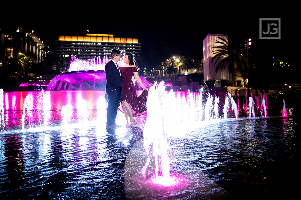 Grand Park in Los Angeles Engagement Photo