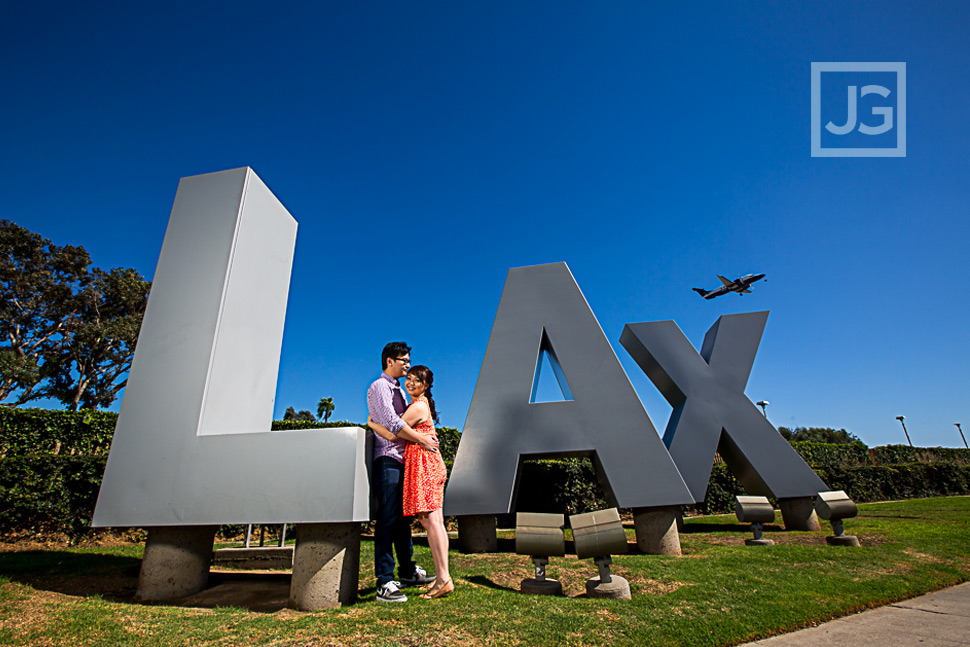 LAX Engagement Photo