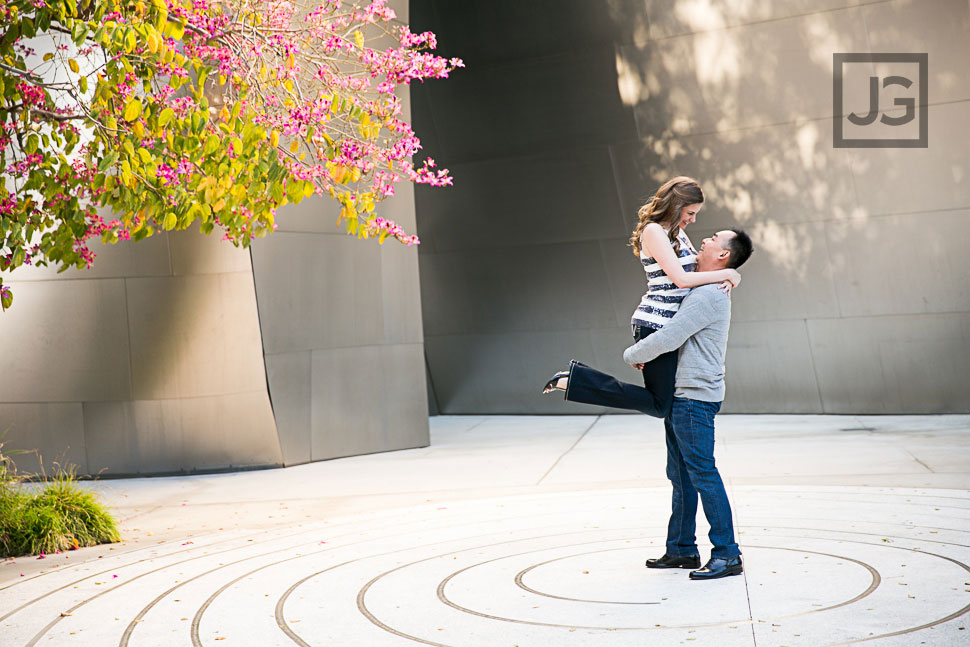 Walt Disney Concert Hall Engagement Photography Los Angeles