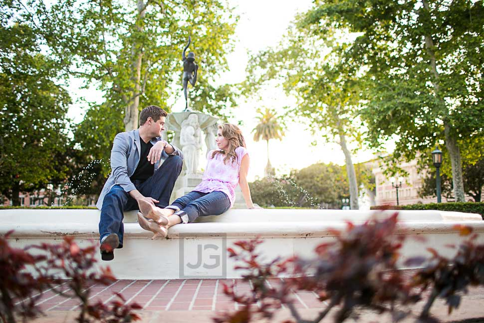 University of Southern California Engagement Photography