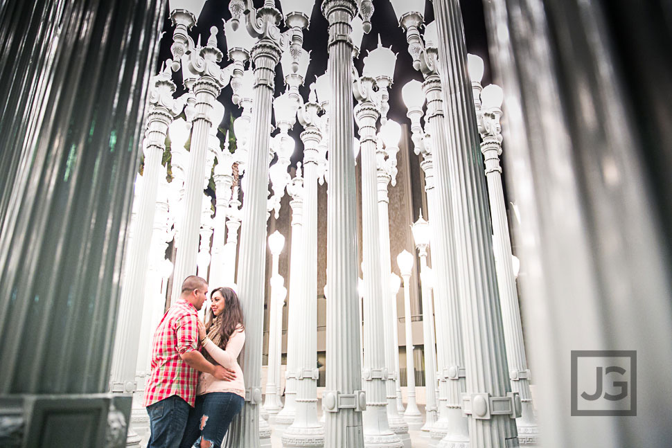 santa monica  u0026 downtown los angeles engagement photography