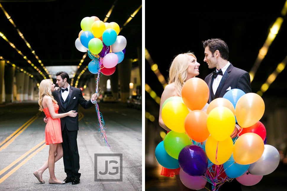 Los Angeles Engagement Photo Ballons
