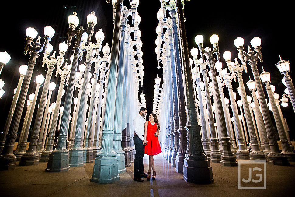 LACMA Light Display Engagement Photo