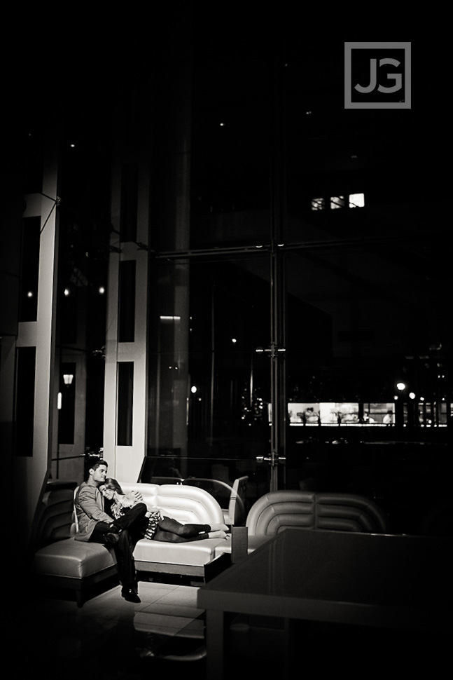 Downtown Los Angeles Engagement Photography JW Mariott