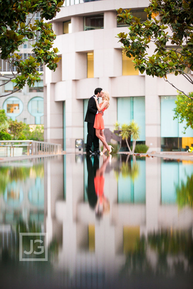 Los Angeles Engagement Photography Water Fountain
