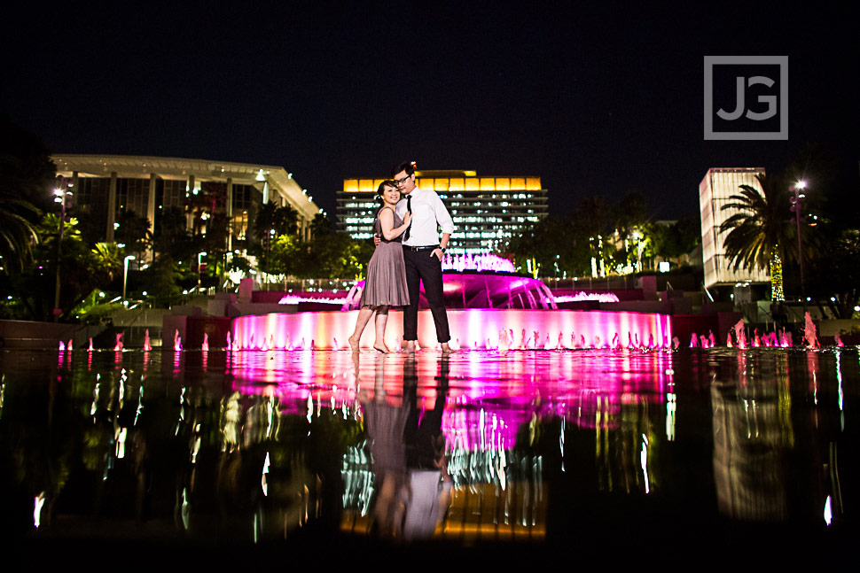 downtown-los-angeles-engagement-photography Grand Park