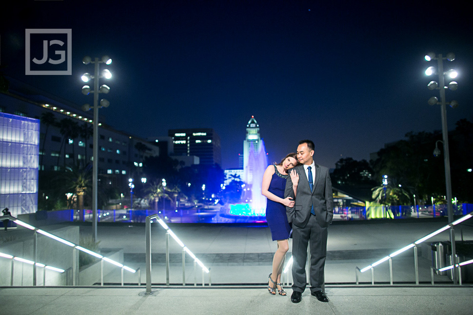 Downtown Los Angeles Engagement Photography City Hall