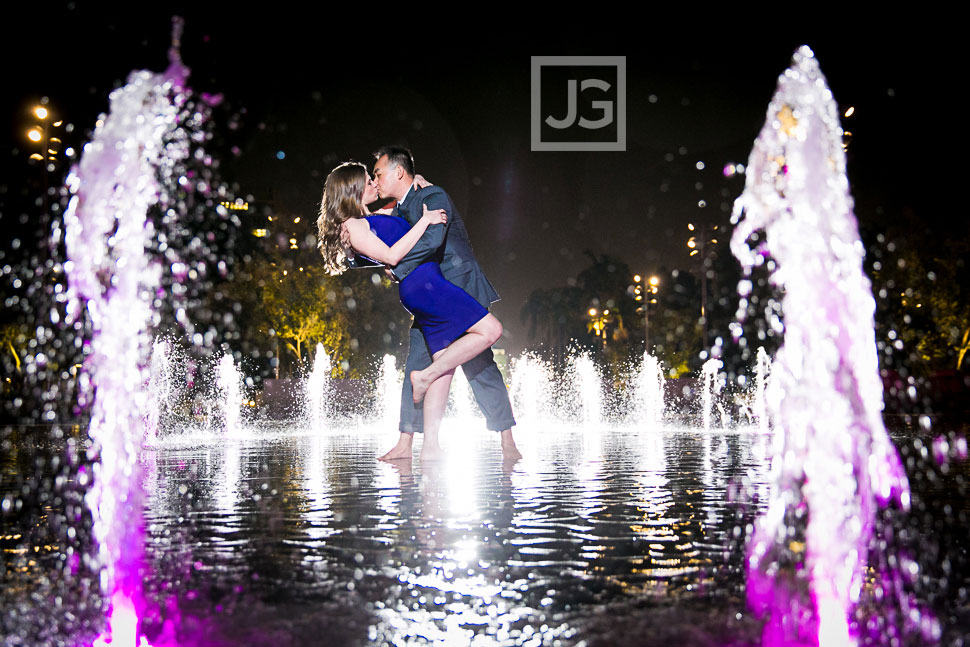 Downtown Los Angeles Engagement Photography Grand Park