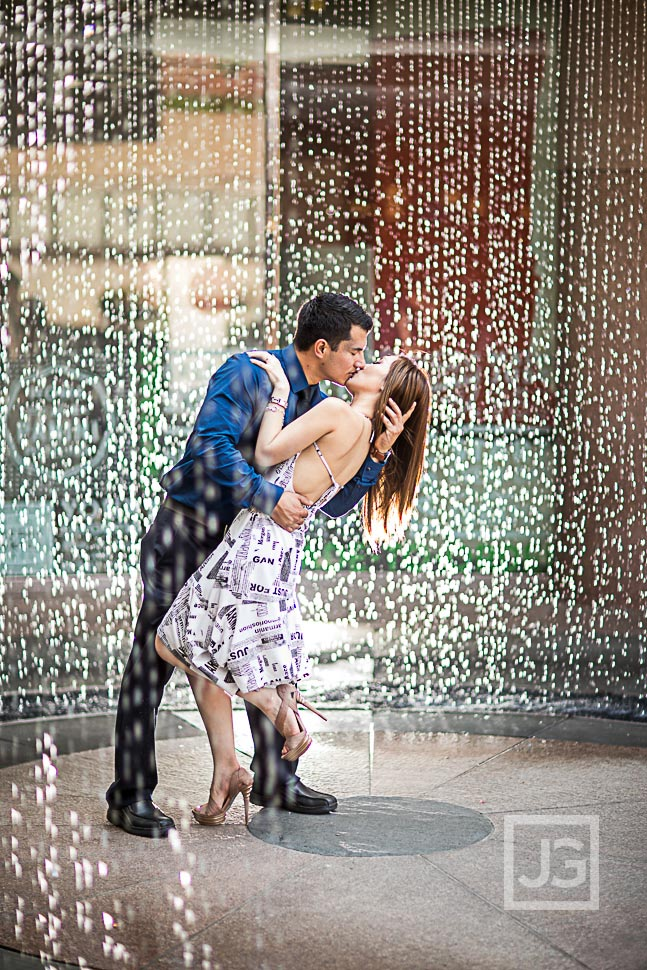 Water Fountain Engagement Photography